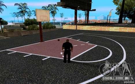 A nova quadra de basquete para GTA San Andreas sexta tela