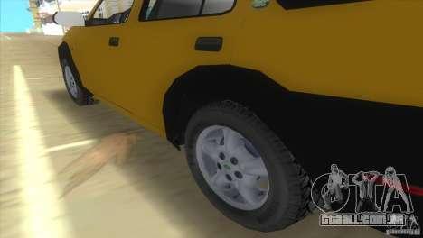 Land Rover Freelander para GTA Vice City vista traseira esquerda