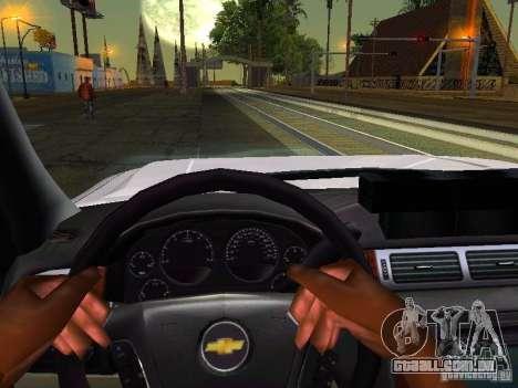 Chevrolet Silverado Rockland Police Department para GTA San Andreas vista interior