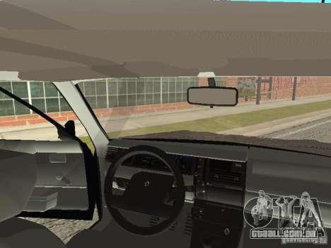 Renault 11 Police para GTA San Andreas vista interior