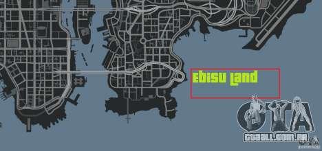 Ebisu Circuit para GTA 4 oitavo tela