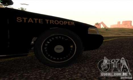 Ford Crown Victoria Florida Police para GTA San Andreas traseira esquerda vista