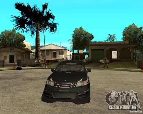 Saab 9-3 da GM Rally versão 2 para GTA San Andreas vista traseira