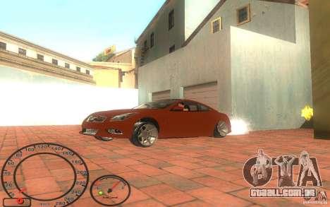 Infiniti G37 Vossen para GTA San Andreas traseira esquerda vista