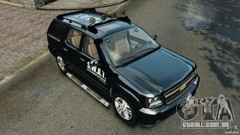Chevrolet Tahoe LCPD SWAT para GTA 4 motor