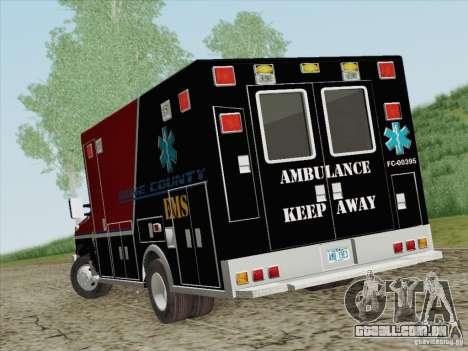 Ford E-350 AMR. Bone County Ambulance para GTA San Andreas traseira esquerda vista
