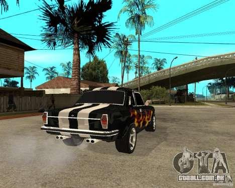 GAZ 2410 Camaro edição para GTA San Andreas traseira esquerda vista