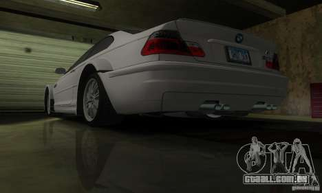 BMW M3 Tuneable para GTA San Andreas vista superior