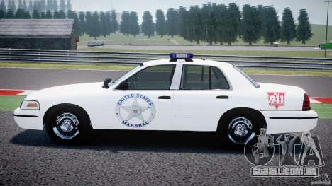 Ford Crown Victoria US Marshal [ELS] para GTA 4 esquerda vista