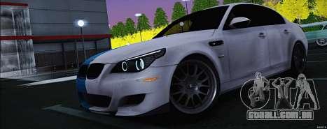 BMW M5 E60 para GTA San Andreas vista direita