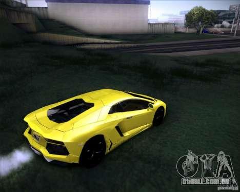 Lamborghini Aventador para GTA San Andreas esquerda vista