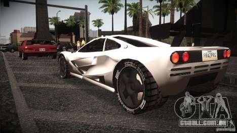 McLaren F1 LM para GTA San Andreas traseira esquerda vista