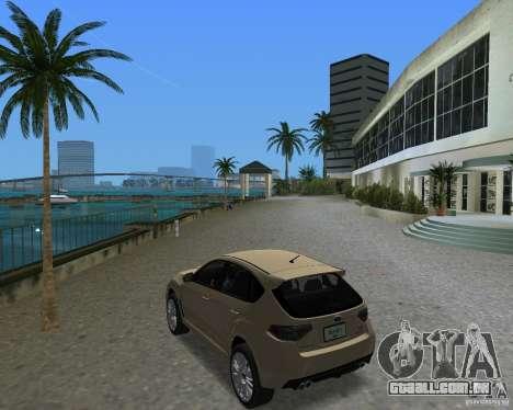 Subaru Impreza WRX STI para GTA Vice City vista direita