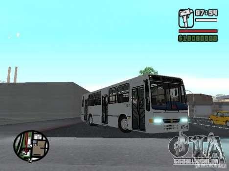 Busscar Urbanus SS Volvo B10M para GTA San Andreas vista interior