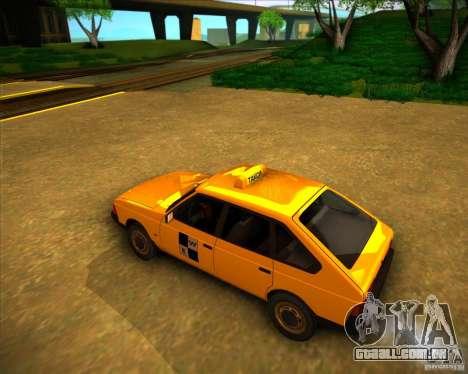 Táxi do AZLK 2141 para GTA San Andreas traseira esquerda vista