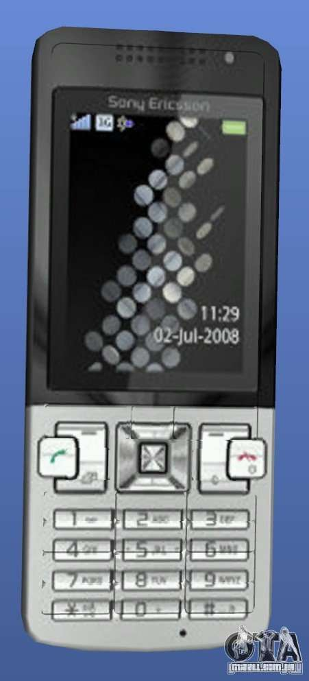 Celular Sony Ericsson T700 para GTA 4