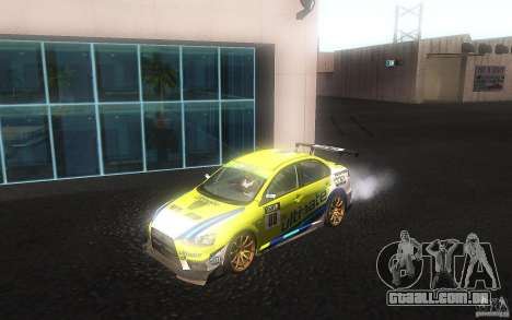 Mitsubishi Lancer Evolution X Gymkhana para GTA San Andreas esquerda vista