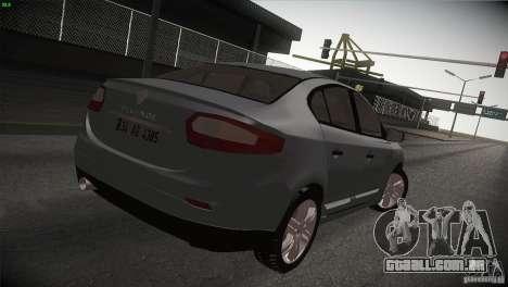 Renault Fluence para GTA San Andreas esquerda vista