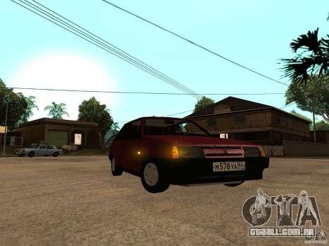 VAZ 2108 dreno para GTA San Andreas esquerda vista