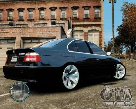 BMW 530I E39 [Final] para GTA 4 traseira esquerda vista