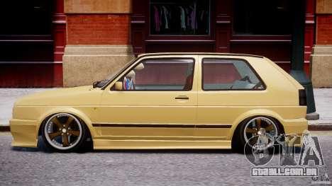 Volkswagen Golf MK2 Tuning para GTA 4 traseira esquerda vista