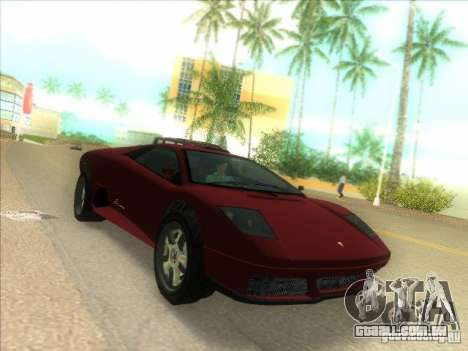Infernus do GTA IV para GTA Vice City deixou vista
