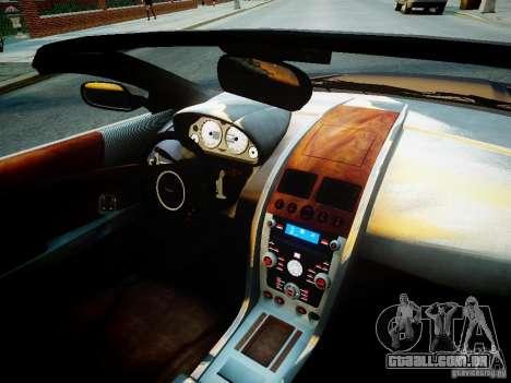 Aston Martin DB9 Volante v2.0 para GTA 4 vista interior