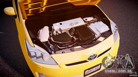 Toyota Prius LCC Taxi 2011 para GTA 4 vista interior
