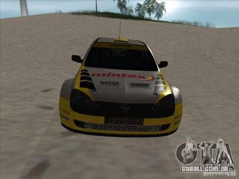 Opel Rally Car para GTA San Andreas vista interior