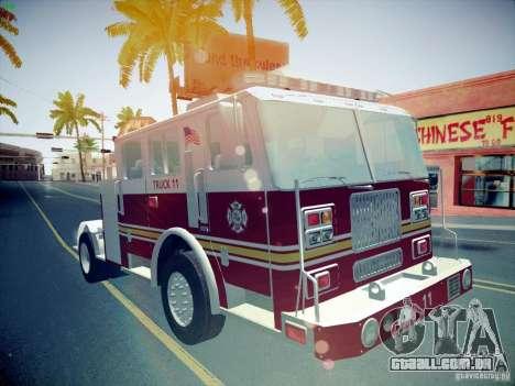 Seagrave Tiller Truck para GTA San Andreas vista traseira