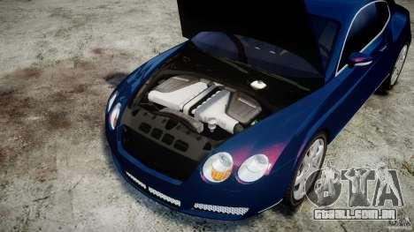 Bentley Continental GT v2.0 para GTA 4 vista interior