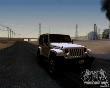 Jeep Wrangler Rubicon para GTA San Andreas vista direita
