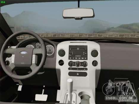 Ford F-150 para GTA San Andreas vista superior
