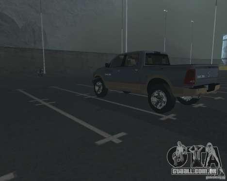 Dodge Ram Hemi para GTA San Andreas traseira esquerda vista