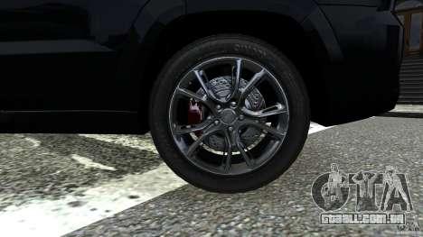 Jeep Grand Cherokee STR8 2012 para GTA 4 vista de volta
