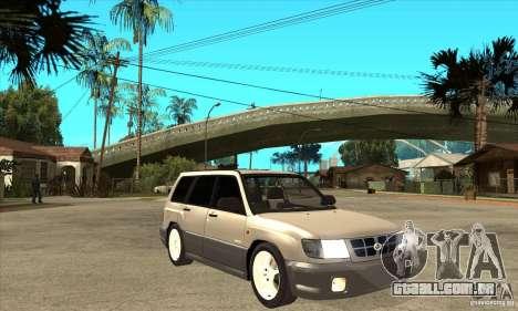 Subaru Forester 1997 ano para GTA San Andreas vista traseira