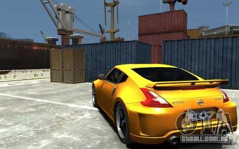 Nissan 370z Tuned Final para GTA 4 traseira esquerda vista