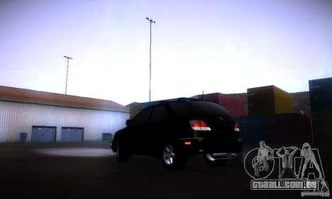 Lexus RX300 para GTA San Andreas esquerda vista