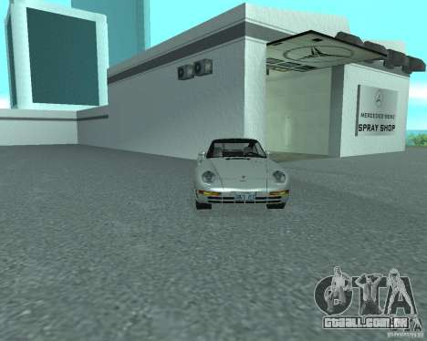 PORSHE 959 para GTA San Andreas vista direita