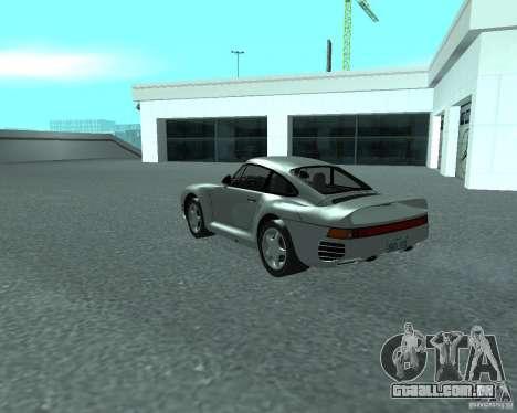 PORSHE 959 para GTA San Andreas esquerda vista