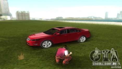 Ford Taurus para GTA Vice City vista traseira esquerda