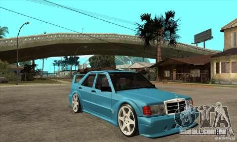Mercedes-Benz w201 190 2.5-16 Evolution II para GTA San Andreas vista traseira