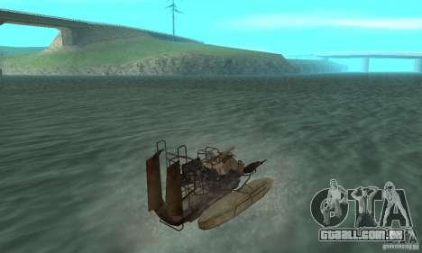 HL2 Airboat para GTA San Andreas esquerda vista