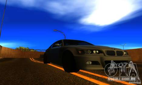 BMW M3 E46 TUNEABLE para GTA San Andreas vista direita