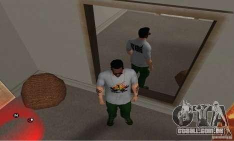 Dia verde t-shirt para GTA San Andreas terceira tela