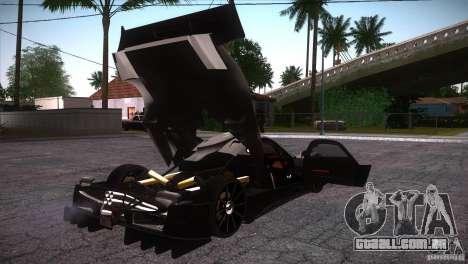 Pagani Zonda R para GTA San Andreas vista inferior