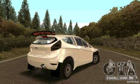Ford Fiesta Rally para GTA San Andreas vista superior
