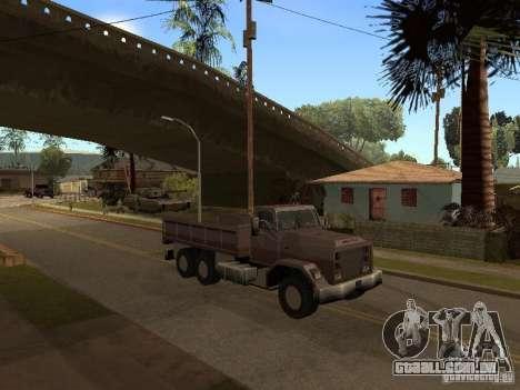 Ford Freightliner para GTA San Andreas esquerda vista