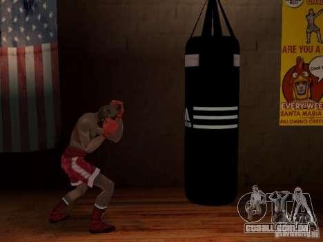 Novo saco de pancadas boxe para GTA San Andreas terceira tela