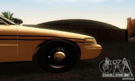 Ford Crown Victoria Tennessee Police para GTA San Andreas vista direita